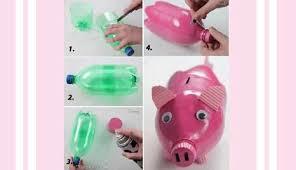teks prosedur membuat kerajinan lu hias cara membuat celengan bentuk babi dari botol plastik bekas