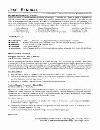 technical resume format resume format for system engineer new it technician cv sle qa