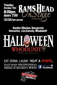 rams head on stage u2013 halloween whodunit murder mystery rob maher