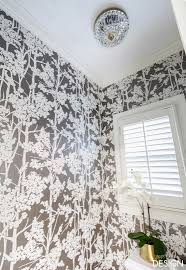 wallpaper in the water closet