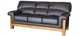 Wood And Leather Sofa Wood Frame Sofa Orlane Buy In Mueang Samut Prakan