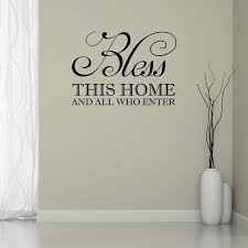 home wall bless this home wall sticker by mirrorin notonthehighstreet com