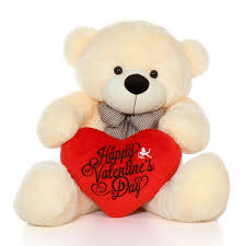 teddy valentines day 48in size happy s day teddy vanilla cozy