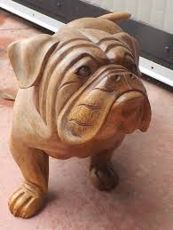 205 best carved wooden dogs images on chainsaw