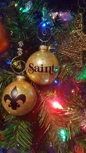nfl new orleans saints ball ornament with swirls lsu u0026 saints