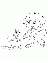 remarkable dora christmas coloring pages printable dora