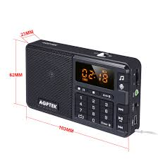 agptek r08 portable mini mp3 player fm radio and line in voice