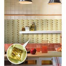 Painted Wavy Mosaic Tile Sheets Bathroom Wall Tiles Crystal Glass - Sheet glass backsplash