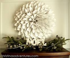 Christmas Decoration Wreath Old Book Pages by Christmas Decorations Christmas Wreath Old Book Pages сhristmas