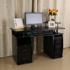 Kleiner Schreibtisch Schwarz Computertisch Pc Schreibtisch Arbeitstisch Büro Tisch Schwarz