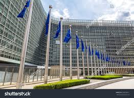 Flags In European Flags Front Headquarters European Commission Stock Photo