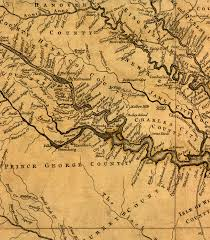 Map Of Maryland And Virginia by Early Settlement Up The Rappahannock