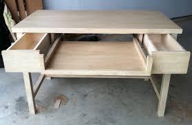 White Distressed Desk by White Oak Distressed Desk The Grain