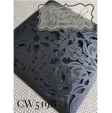 wedding invitations auckland black wedding invitation cover lasercut mycards cw519