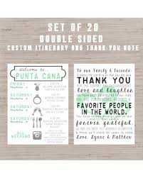 wedding itinerary for guests spectacular deal on set of 20 destination wedding welcome bag