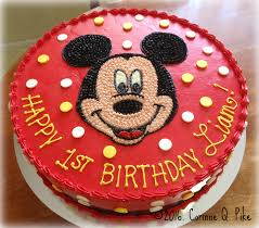 mickey mouse cake heart of cake decorating tip buttercream polka dots