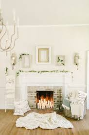 How To Decorate A Non Working Fireplace 36 Neutral And Organic Winter Décor Ideas Digsdigs