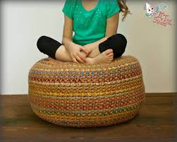 Crochet Ottoman Pattern Crochet Pattern Pouf Pattern Crochet Foot Stool Crochet