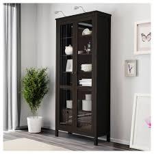 ikea hemnes glass door cabinet hemnes glass door cabinet black brown 90x197 cm ikea