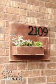 Make A Brick Succulent Planter - diy address number wall planter planters walls and plants