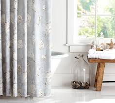 Seashell Shower Curtains Summer Seashell Shower Curtain Pottery Barn