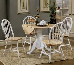 Cottage Dining Room Sets Furniture Deluxe Coaster Fine Round Drop Leaf Dining Table Lovely
