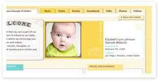 baby shower website exles view exles of your moments event websites