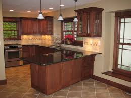 Dark Brown Kitchen Cabinets Kitchen Inspiring Simple Kitchen Remodel Pictures Of Remodeled