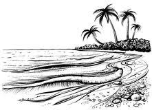 seaside black white scene stock illustrations u2013 56 seaside black