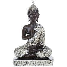 thai buddha statues sitting kneeling standing feng shui silver