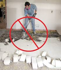 critical advice on asbestos in the basementthe floors to your home
