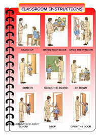 printable instructions classroom classroom language english work sheets pinterest classroom
