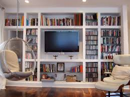 built in bookshelves under stairs 5105