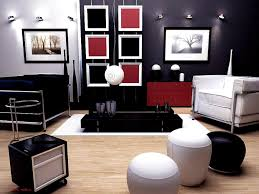 red home decor accessories accessories handsome red black and white living room idea home