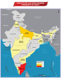 Show Me A Map Of India by Which State Has Given Maximum Presidents Of India