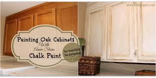 How To Paint Oak Kitchen Cabinets Before And After Pictures Of Painted Oak Kitchen Cabinets