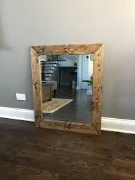 mirror wood frame mirror handmade rustic wood mirror