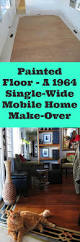 painted floor a 1964 single wide mobile home make over single
