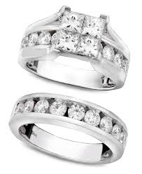 macy s wedding rings sets macy s engagement ring and wedding band 14k white gold and