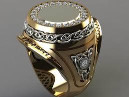 ring men 3d printable model vas men ring cgtrader