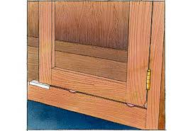 How To Fix Kitchen Cabinet Hinges by Flush Mounted Doors
