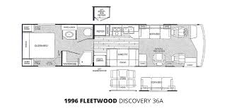 fleetwood fifth wheel floor plans 1996 fleetwood discovery 36a class a diesel u2013 stock c00029 the