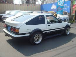 toyota ae86 corolla toyota corolla levin ae86 gt apex for sale car on track trading