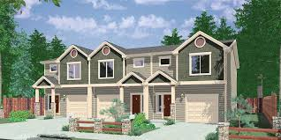 Multi Family Homes Floor Plans Plan 38027lb Triplex House Plan With 3 Bedroom Units Bedrooms