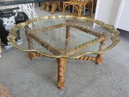 pie crust end table baker pie crust tray top coffee table palm beach regency