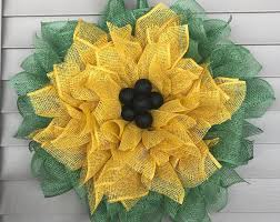 sunflower mesh wreath paigecreationsnmore