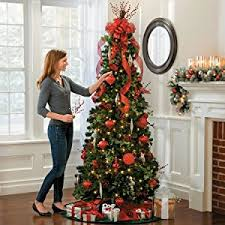 collapsible christmas tree pre lit noble pine pull up christmas tree 6 1 2 collapsible pop