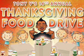 tony v s thanksgiving food drive at king soopers ks107 5