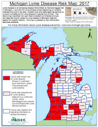 Map Of Northern Michigan by Emerging Disease Issues Michigan Lyme Disease Risk Map