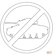 anti war sign coloring page free printable coloring pages